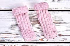 Пары естественных шерстяных связанных носок Стоковая Фотография RF