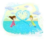 Пары делая форму сердца Стоковые Фотографии RF