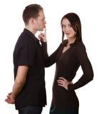 Пары заставляют замолчать закрытый вверх стоковые фото