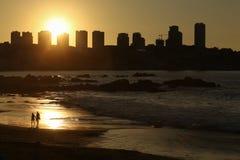 Пары захода солнца Стоковое Фото