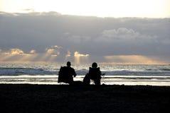 Пары захода солнца Стоковое Изображение RF