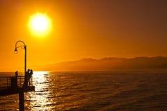 Пары захода солнца Стоковые Фотографии RF