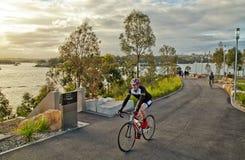Пары задействуя в Barangaroo, Сиднее Стоковое Изображение