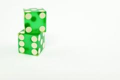 Пары зеленой кости казино Стоковые Фотографии RF