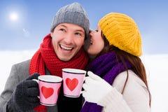 Пары зимы Стоковые Изображения