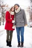 Пары зимы Стоковые Изображения RF