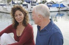 пары зреют яхта Стоковые Изображения RF
