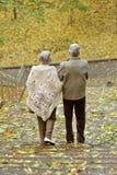 Пары имеют прогулку Стоковое фото RF