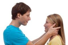 Пары имея визуальный контакт Стоковая Фотография