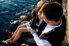 Пары имея потеху в городе Стоковое Фото