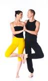 Пары йоги Стоковые Изображения