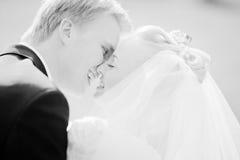 пары как раз поженились Стоковое фото RF