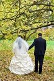 пары как раз поженились Стоковые Фото