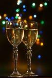 пары каннелюр шампанского Стоковые Фото