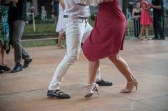Пары квадрата танцоров танго фондовой биржи Стоковое Изображение RF