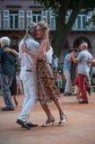 Пары квадрата танцоров танго фондовой биржи Стоковые Изображения