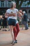 Пары квадрата танцоров танго фондовой биржи Стоковое Изображение