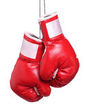 Пары кожаных изолированных перчаток бокса Стоковое Изображение