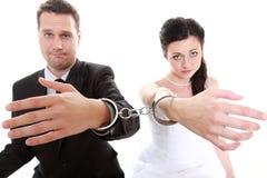 Пары концепции отношения в кризисе развода Стоковая Фотография