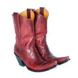 Пары красных западных ботинок Стоковое Изображение