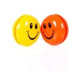 Пары красочных smileys Стоковое фото RF