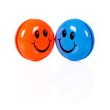 Пары красочных smileys Стоковые Фото
