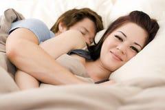 пары кровати Стоковое фото RF