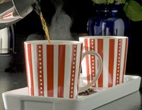пары кружек кофе Стоковая Фотография RF