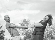 Пары любовников в любящей ориентации Стоковое Изображение