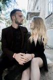 Пары молодой красивой моды любящие Стоковые Фото