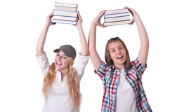 Пары молодых студентов Стоковые Фотографии RF