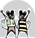 Пары мыши цвета Стоковая Фотография