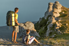 Пары на горах Стоковое Изображение RF