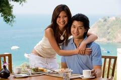 Пары на завтраке Стоковое фото RF