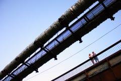Пары на мосте Стоковые Изображения RF