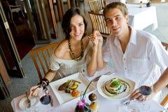 Пары на обеде Стоковое Фото