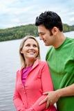 Пары на озере Стоковое Изображение