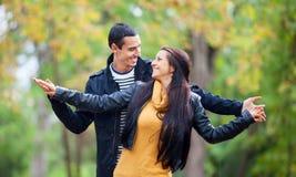 Пары на парке Стоковое Изображение