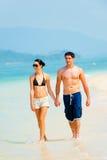 Пары на пляже Стоковое фото RF