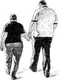 Пары на прогулке Стоковое Изображение