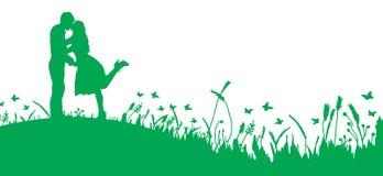 Пары на траве Стоковые Изображения RF