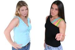 пары над pouting подростком белым Стоковые Изображения RF