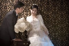 пары несчастные wed Стоковые Изображения RF
