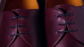 Пары новой классической темноты - ботинки красных людей Стоковые Изображения