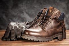 Пары новых ботинок Стоковая Фотография