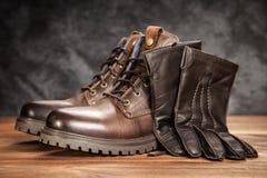 Пары новых ботинок Стоковое Фото