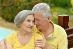 пары обнимая старший Стоковое Изображение