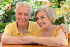пары обнимая старший Стоковое фото RF