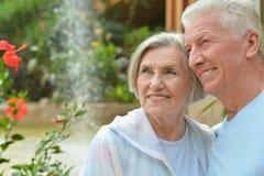 пары обнимая старший Стоковая Фотография RF