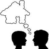 пары обсуждают мечт домашние людей дома Стоковые Фотографии RF